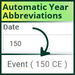 Timeline Year Abbreviations