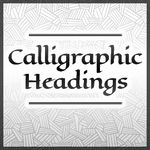 Calligraphic Headings